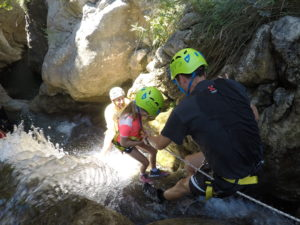 young kids canyoning
