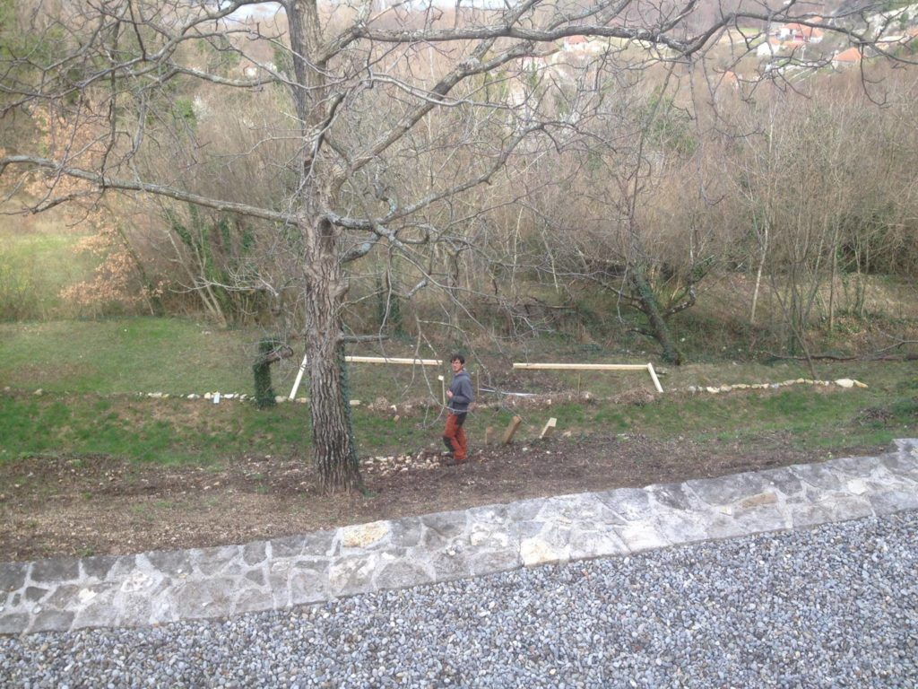 Building a boules court in Montenegro